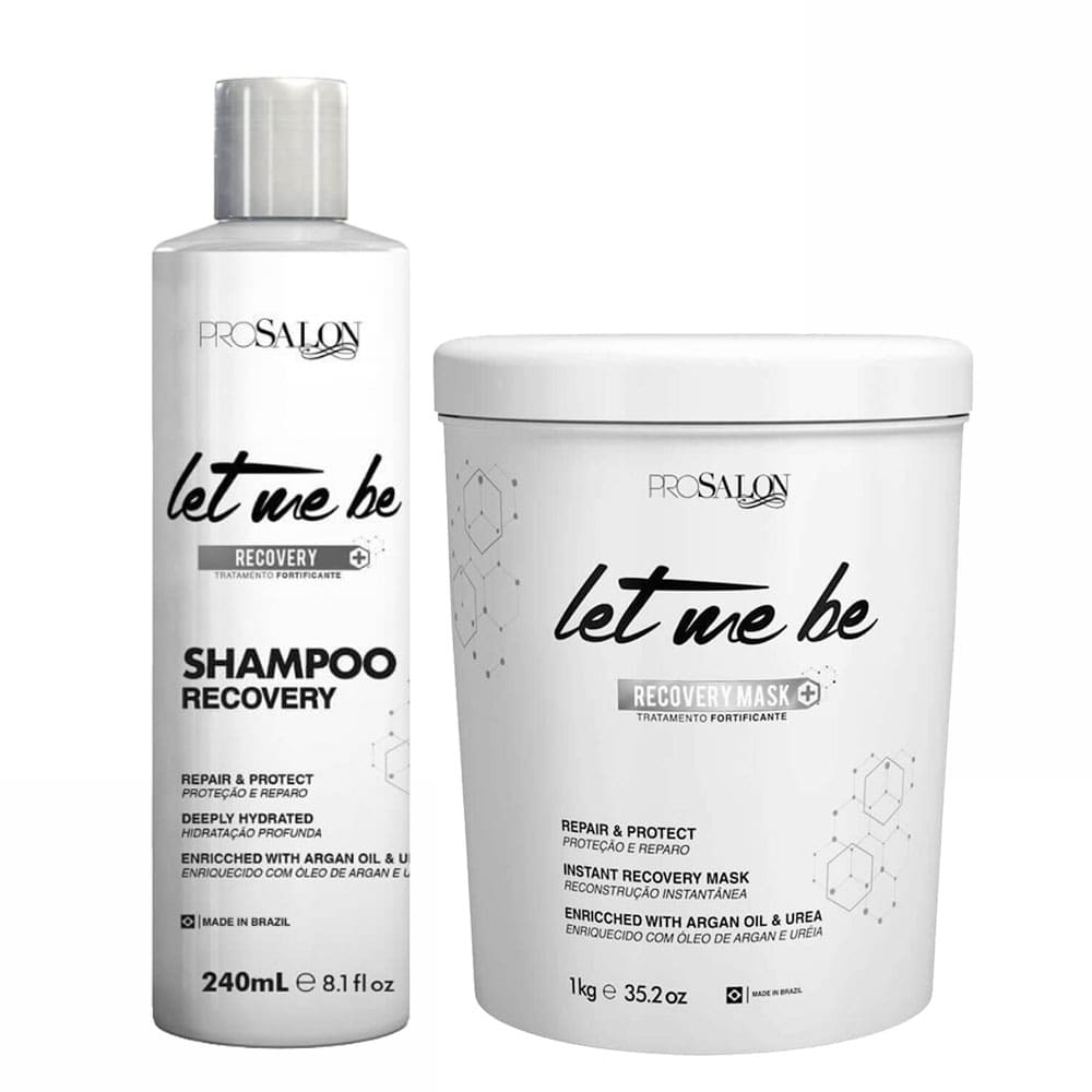 Let me Be Kit Shampoo Tratamento Fortificante and Recovery Mask 1kg/35.2fl.oz