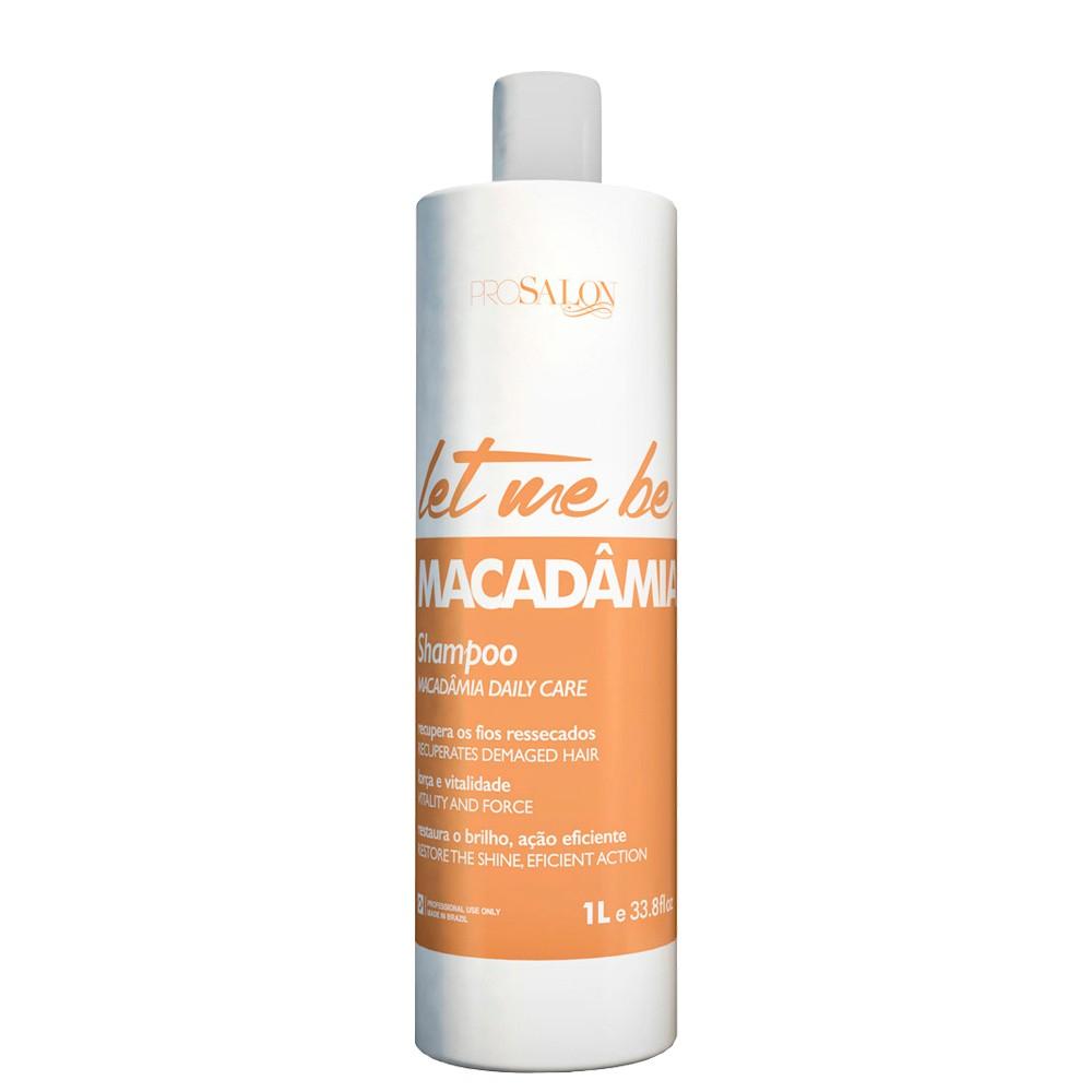 Let Me Be Shampoo Macadamia Lavatório Manutenção Uso Diário 1L