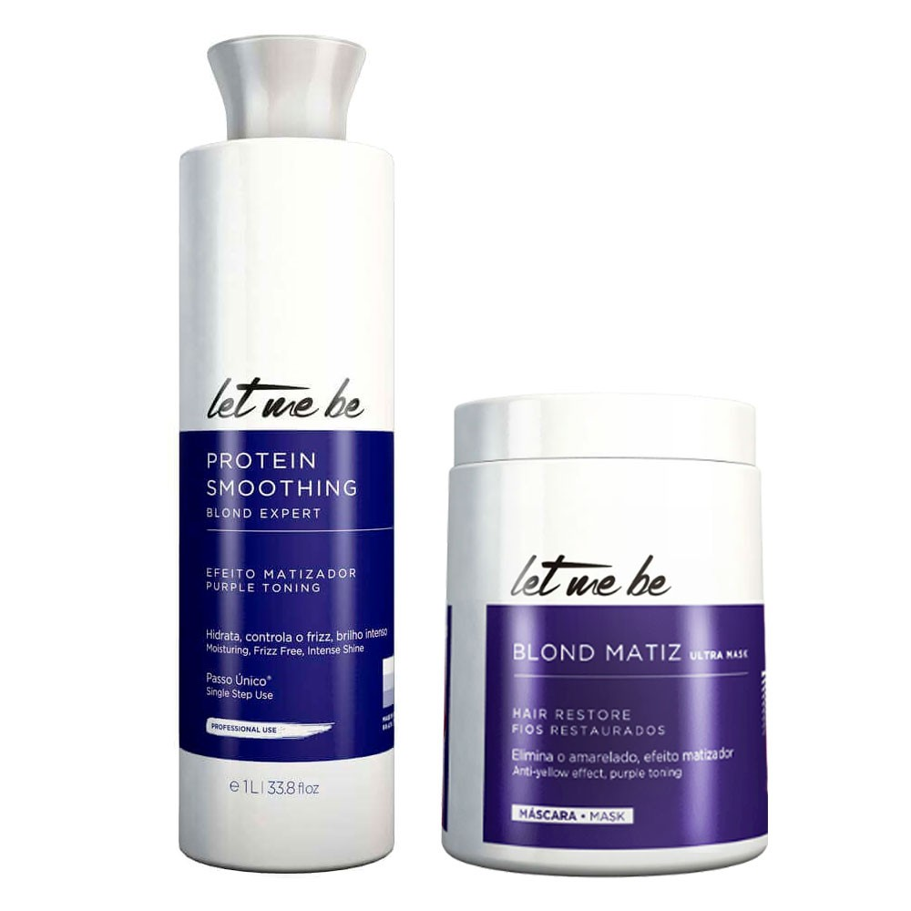 Let me Be Smoothing Protein Smoothing Blond and Btox Blond Matiz Kit