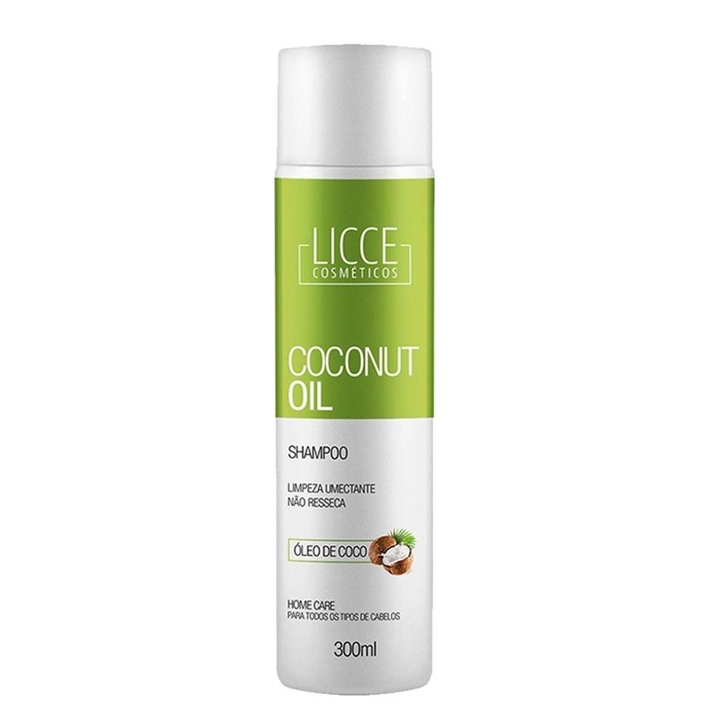 Licce Cosméticos Coconut Oil Shampoo Home Care 300ml/10.1fl.oz