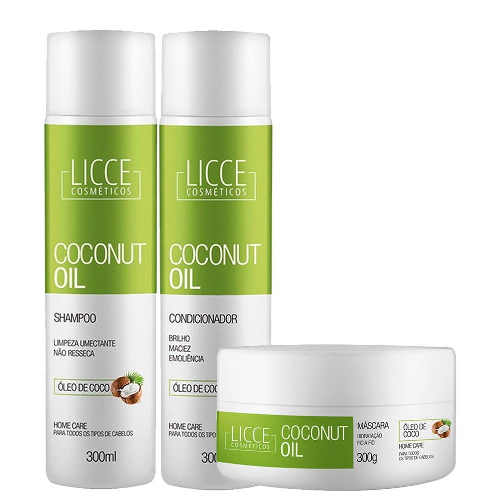 Licce Cosméticos Kit Home Care Coconut Oil Completo