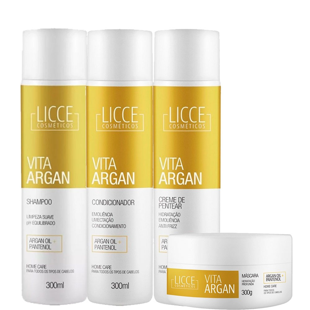 Licce Cosméticos Kit Home Care Vita Argan 300g/10.5fl.oz