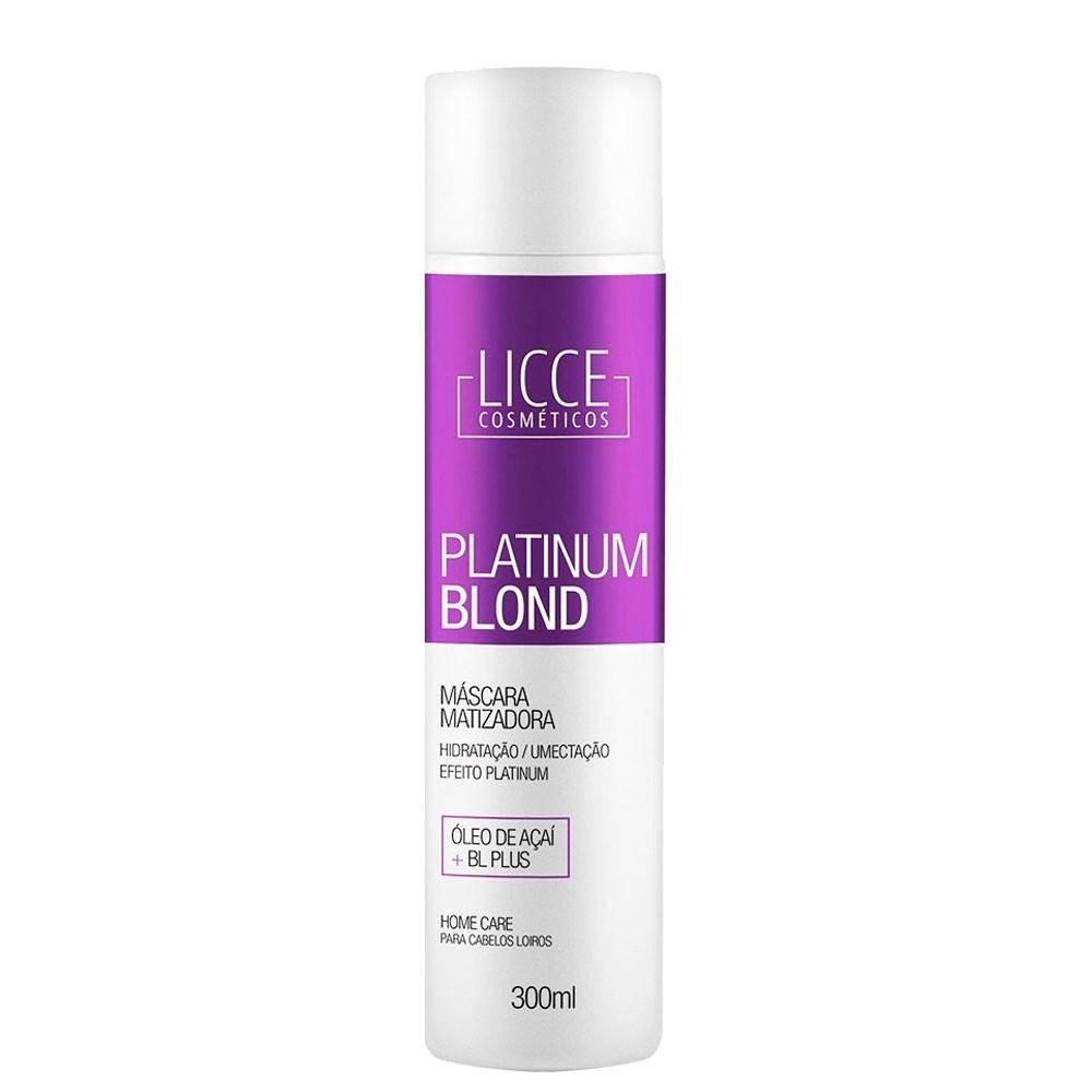 Licce Cosméticos Platinum Blond Máscara Matizadora Home Care 300ml/10.1fl.oz