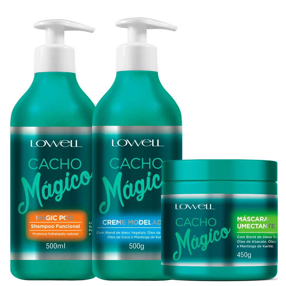 Lowell Cacho Mágico Shampoo + Creme Modelador + Máscara