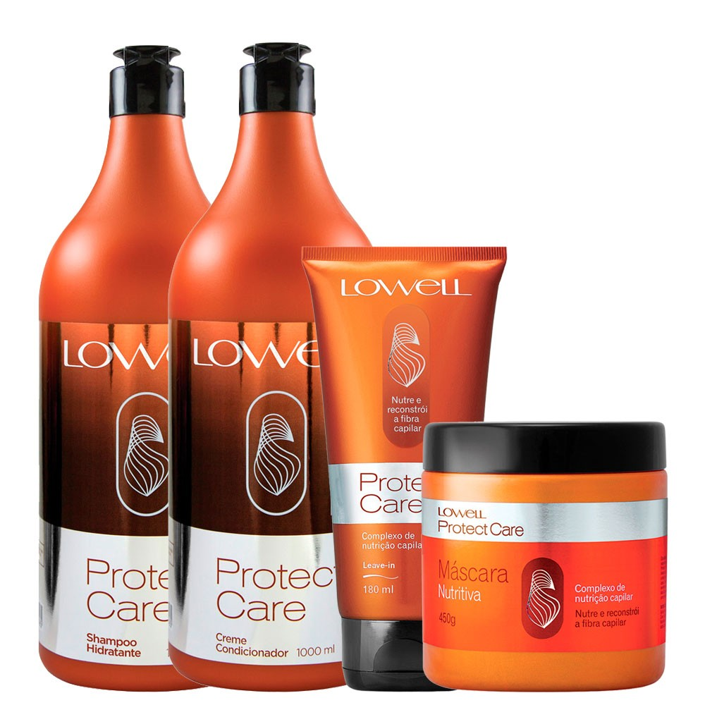 Lowell kit Completo Protect Care Profissional + Leave-in