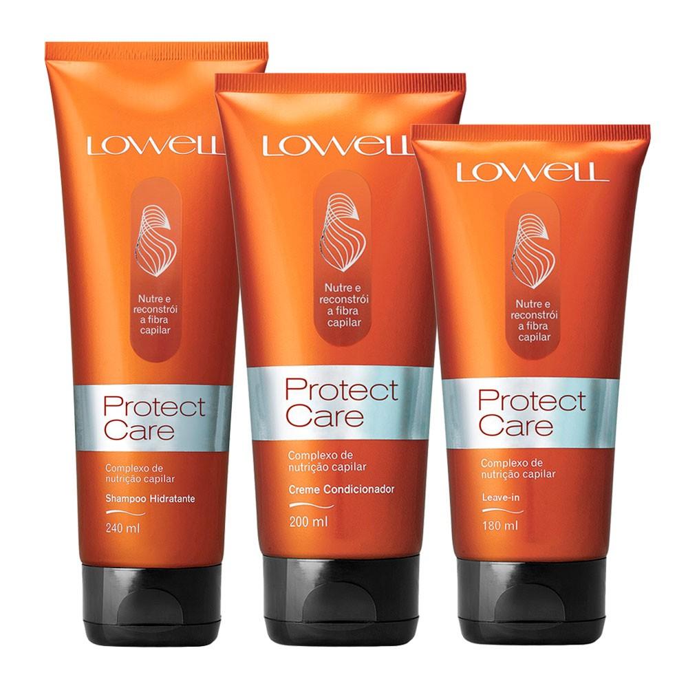 Lowell Kit Protect Care Shampoo/Condicionador/Leave-in