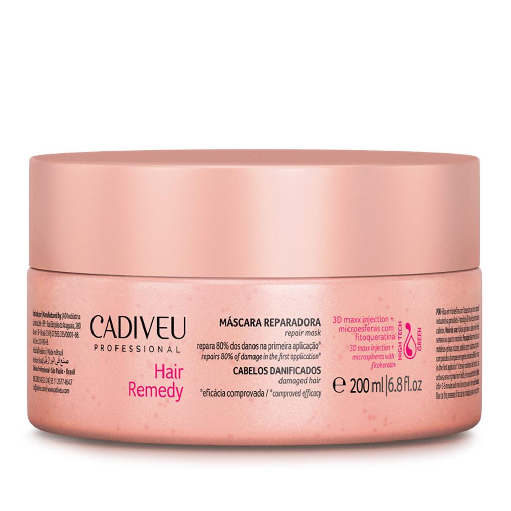 Máscara Reparadora Cadiveu Hair Remedy 200ml - Repara 80% dos Danos Na Primeira Aplicação