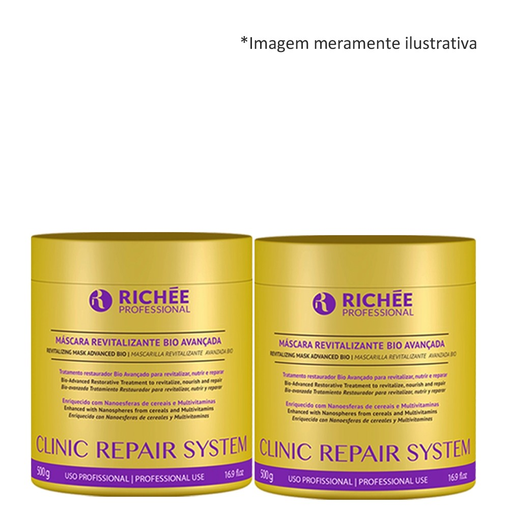 Máscara Revitalizante Richée Clinic Repair Hidrat. 2 x500ml