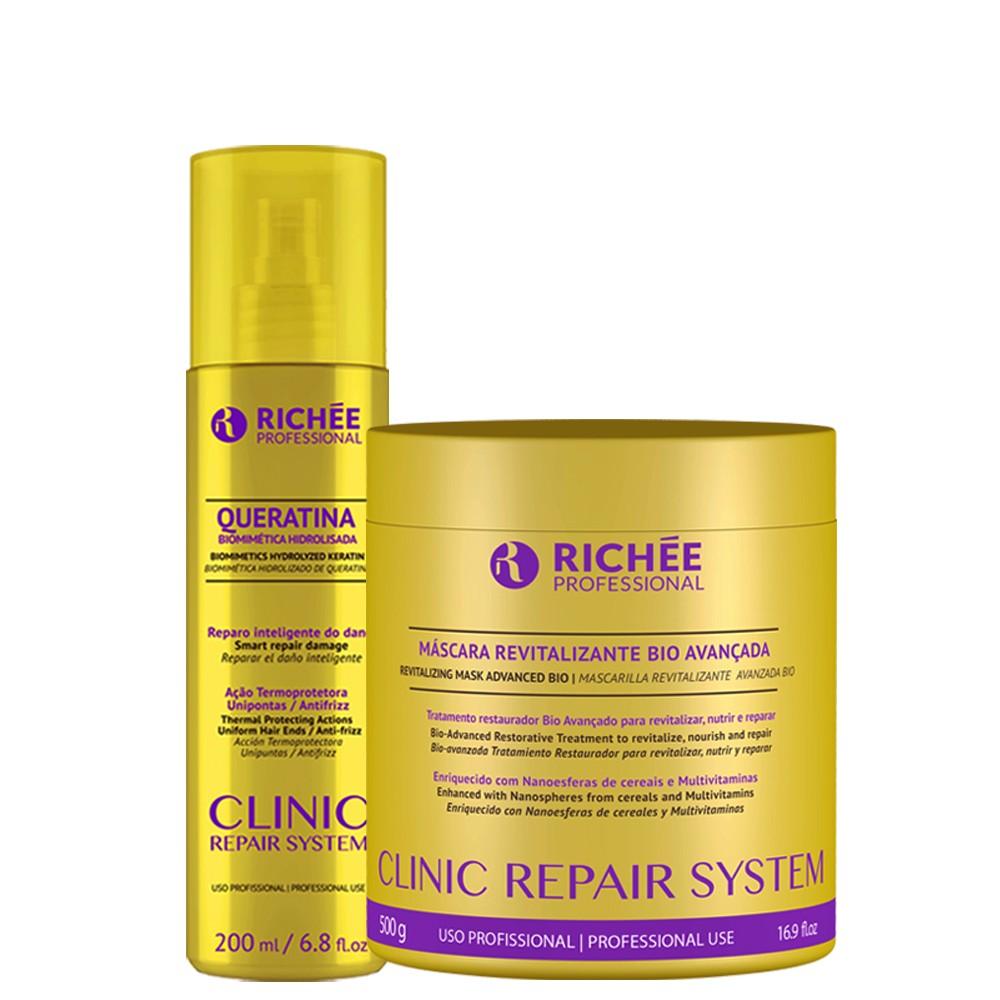 Máscara Revitalizante Richée Hidr. Clinic Repair + Queratina