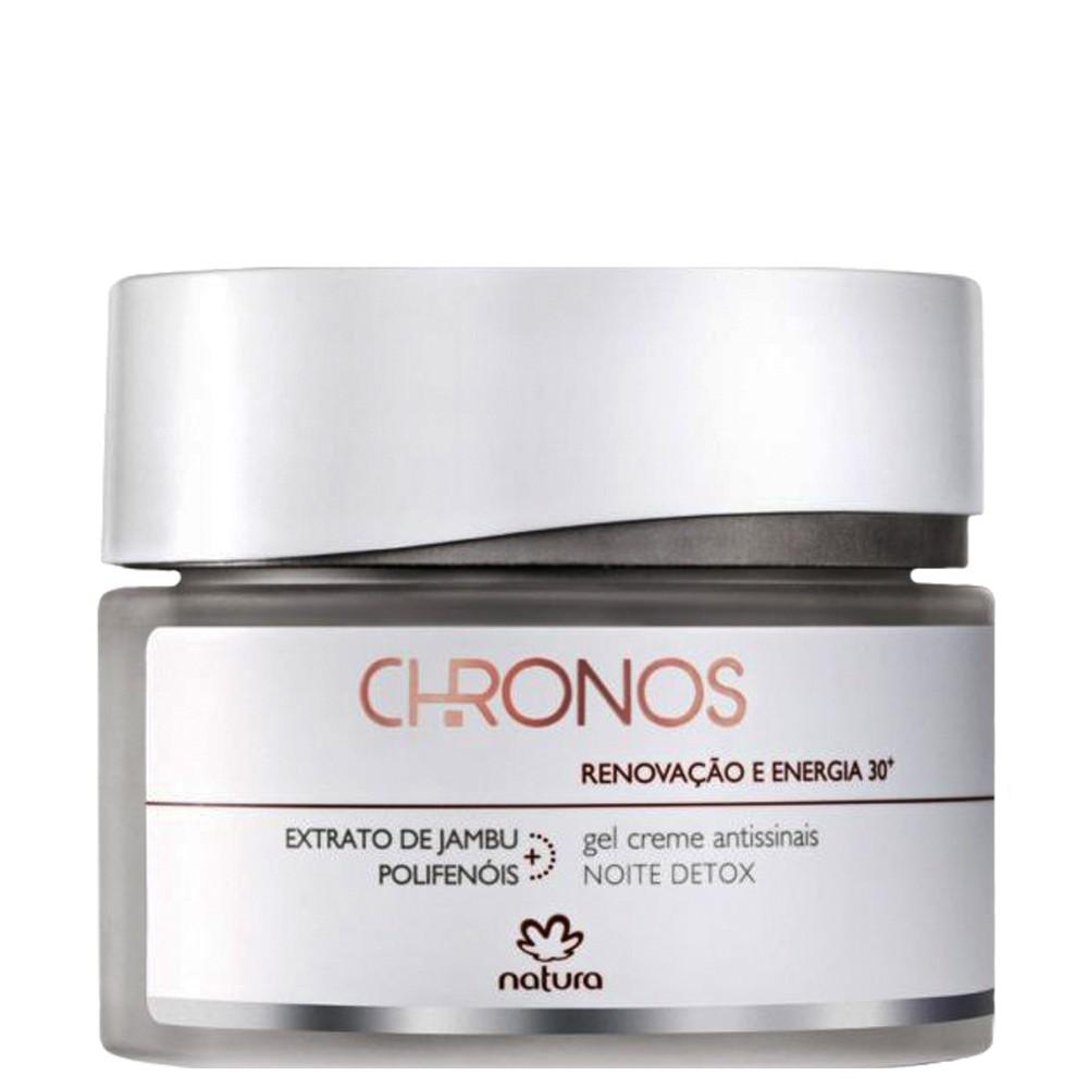 Natura Chronos 30+ Gel Creme Antissinais Noite Detox 40g