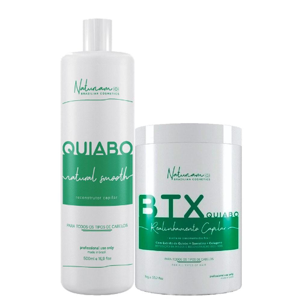 Naturiam Kit Sem Formol Progressiva de Quiabo + Btx de Quiabo