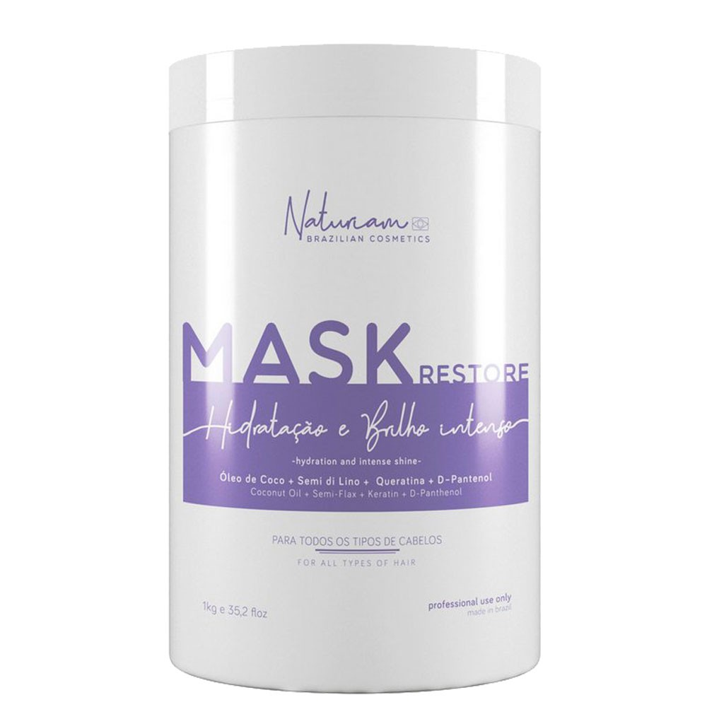 Naturiam Restore Mascara de Hidratação e Brilho Intenso 1kg/35.2fl.oz