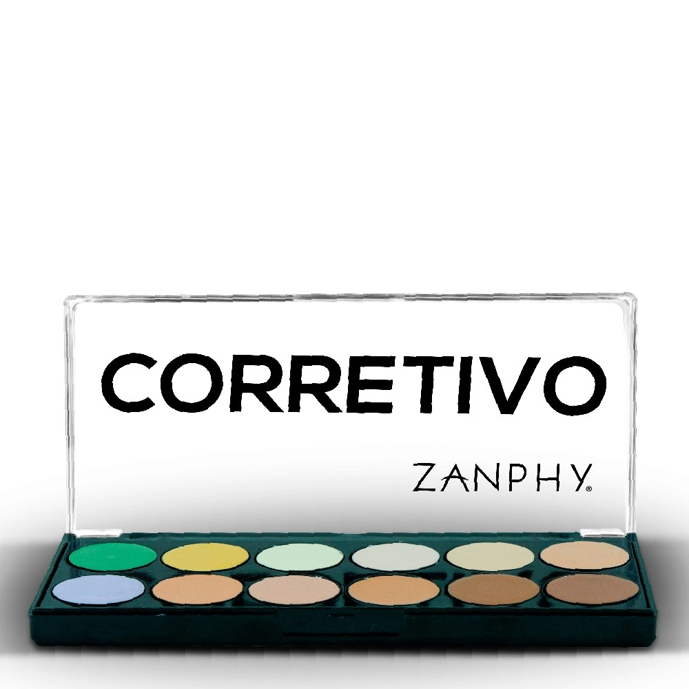 Paleta de Corretivo Zanphy 12 Tons Contorno Efeito Natural