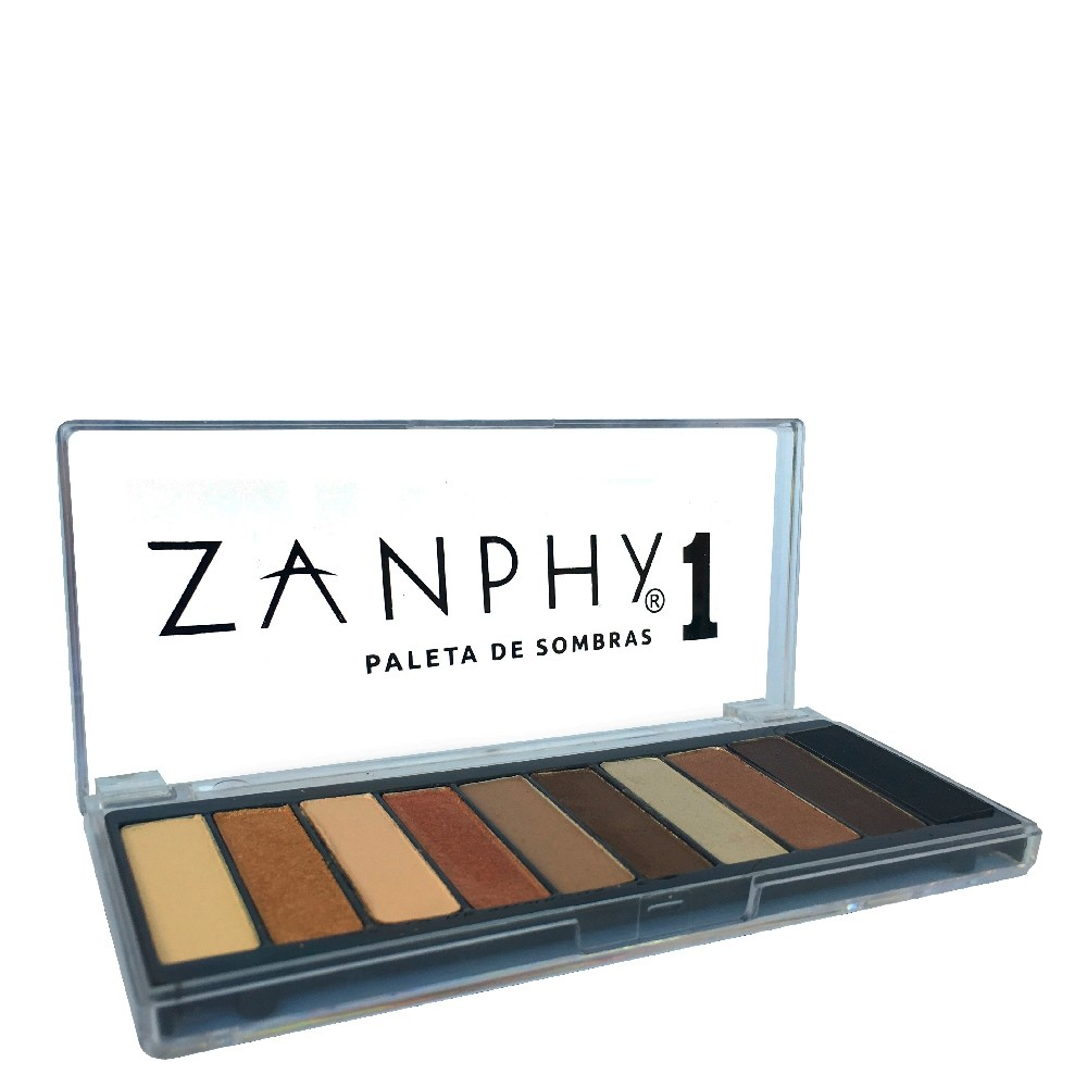 Paleta  de Sombras 1 Zanphy 10 Cores Clássicas de Nude
