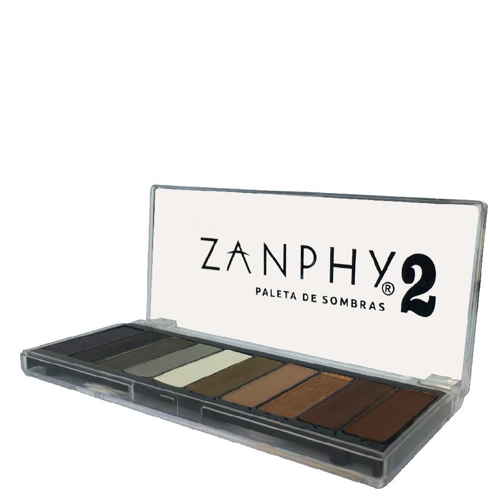 Paleta de Sombras 2 Zanphy 10 Cores Incríveis Tons Neutros
