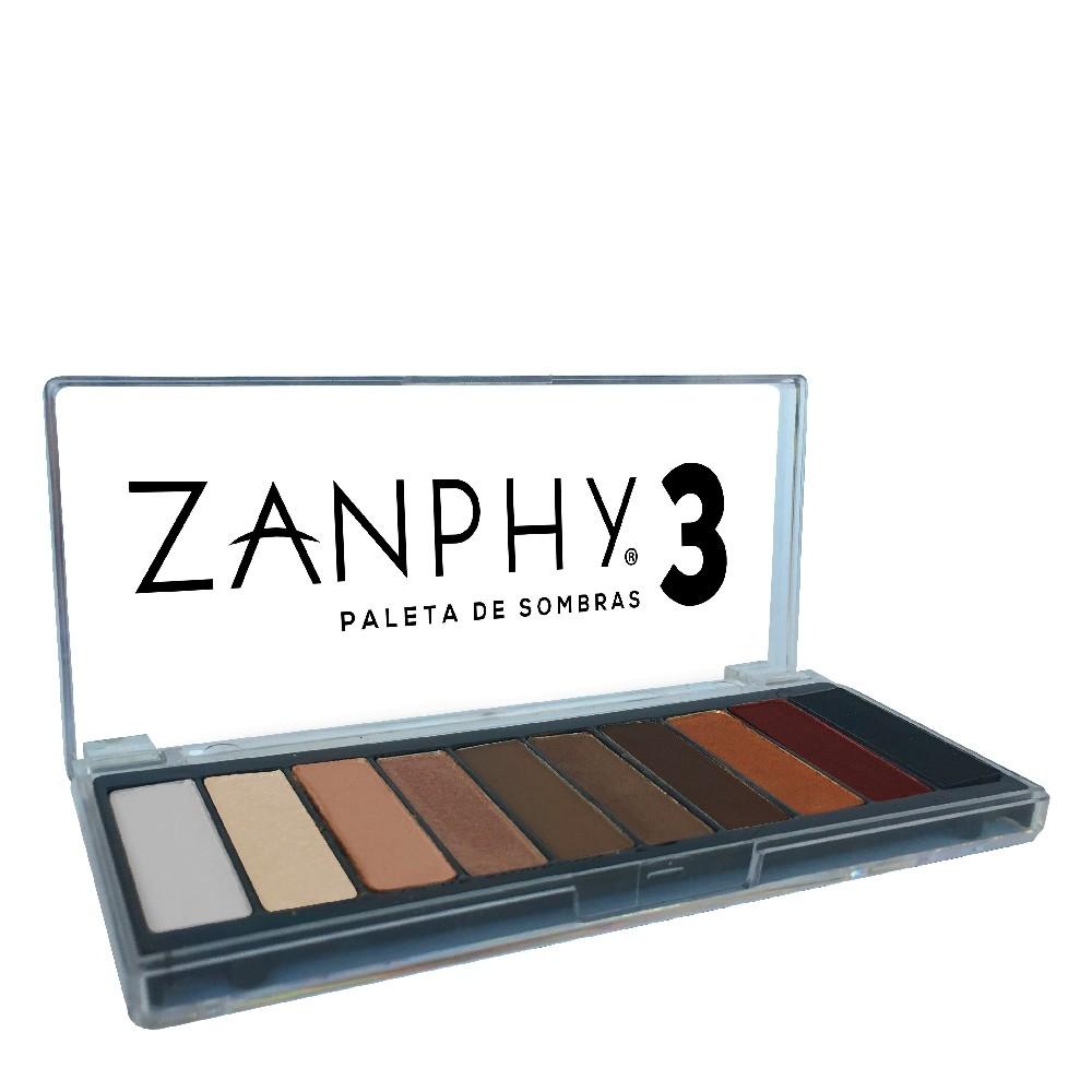Paleta de Sombras 3 Zanphy 10 Cores Nude aos Tons Terrosos