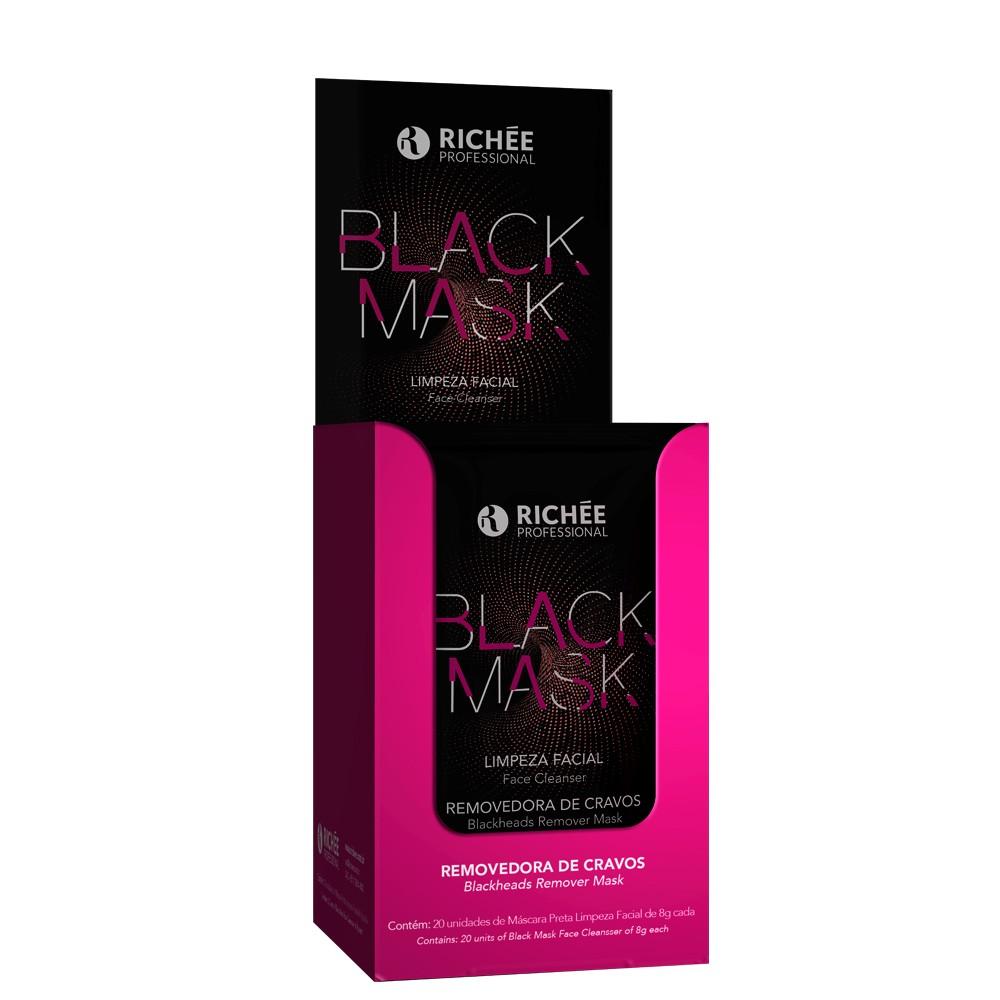 Richée Black Mask Limpeza Facial Caixa c/20 uni 8g cada