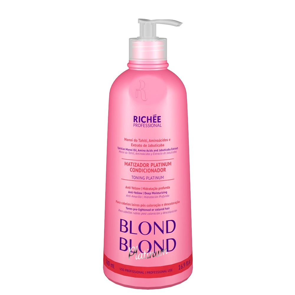 Richée Blond Blond Platinum Condicionador Matizador 500ml