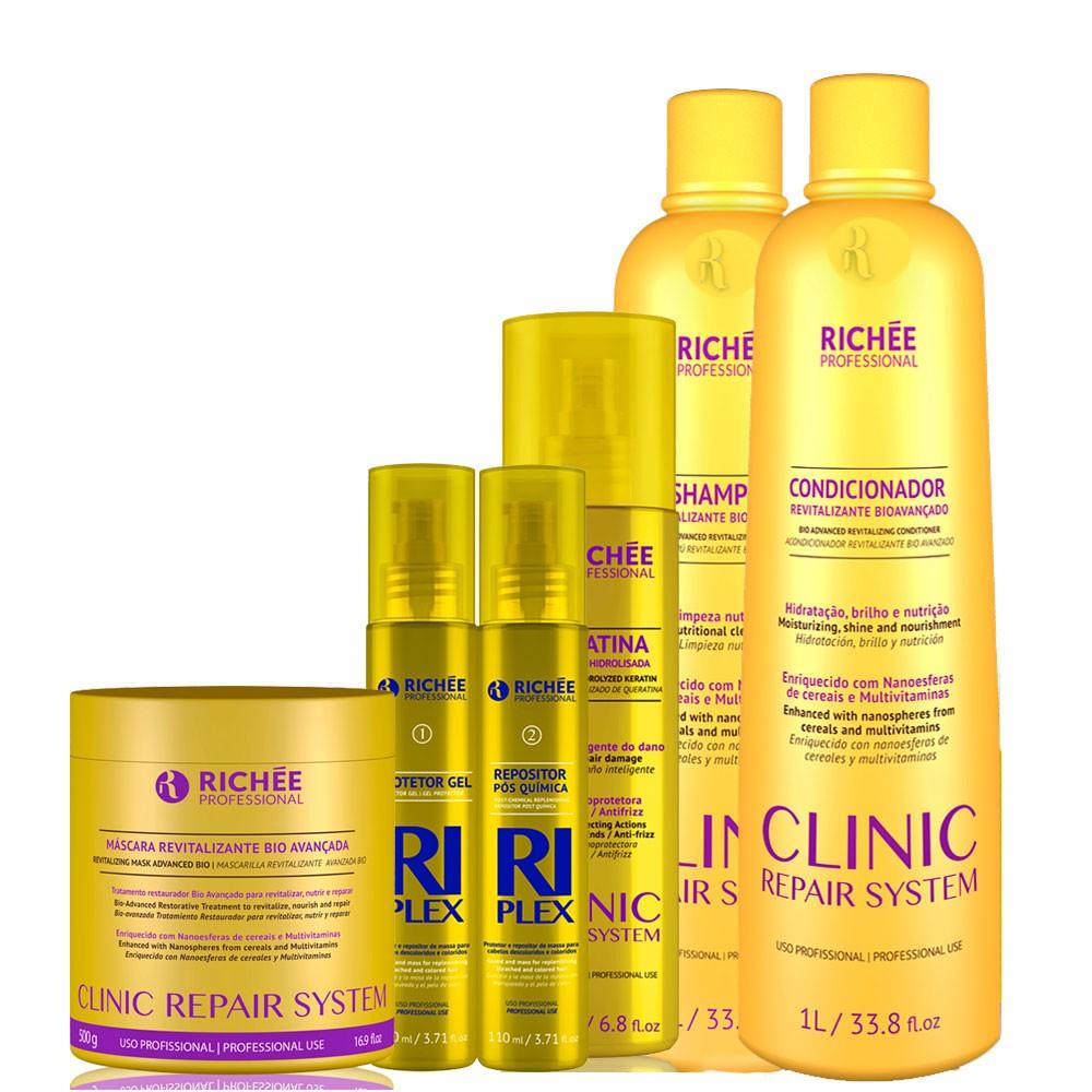 Richée Clinic Repair Salão +queratina +kit Riplex +Mascara
