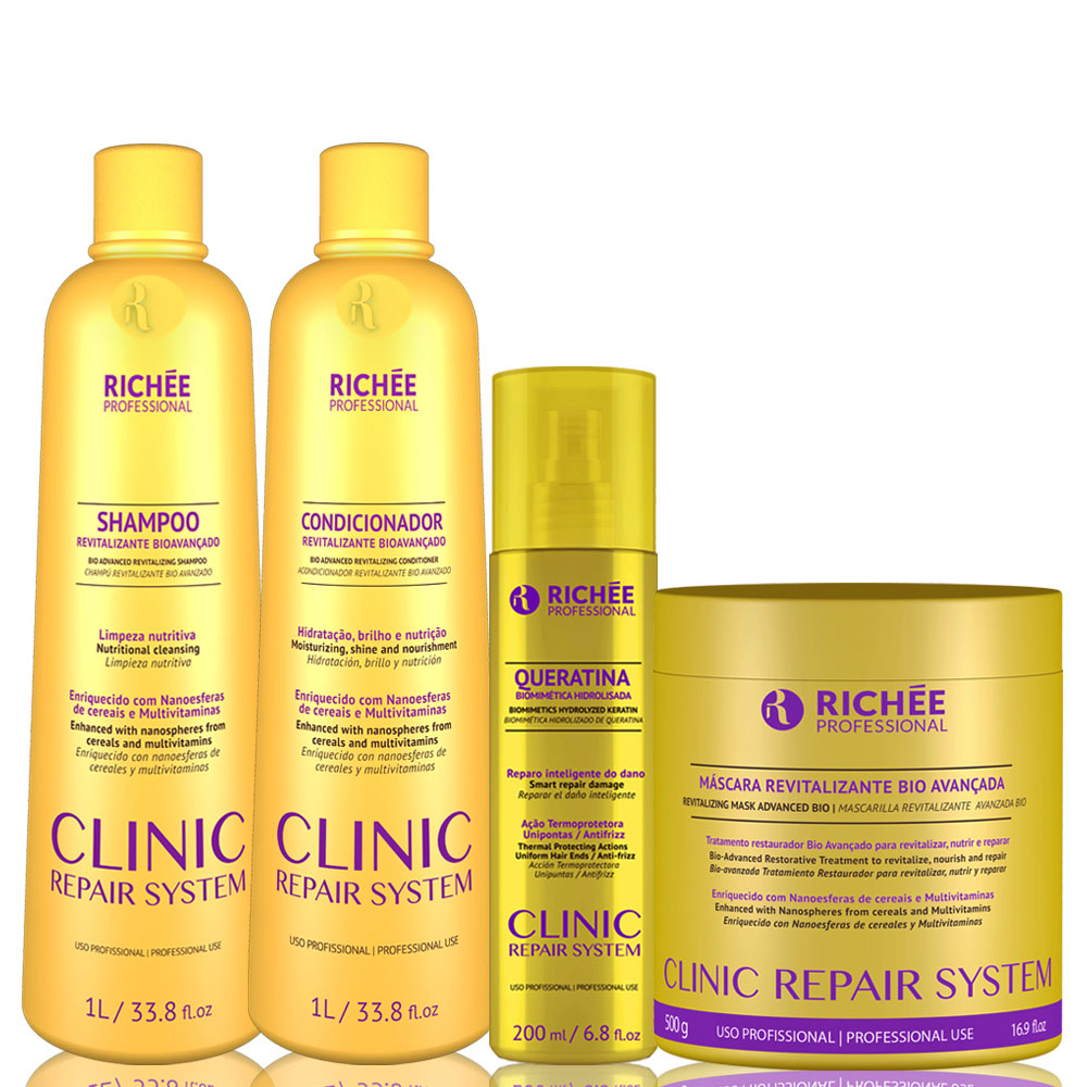 Richée Clinic Repair System Kit Salon Tratamento Completo