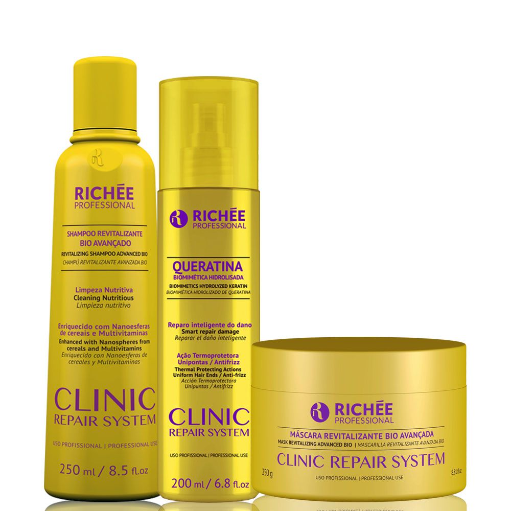 Richée Professional Clinic Repair System Kit Queratina Revitalizante