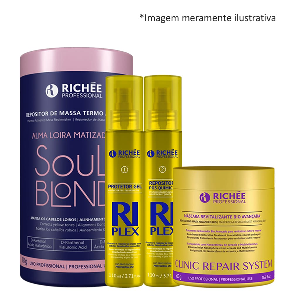 Richée Soul Blond + kit RiPlex + Mascara Clinic Repair