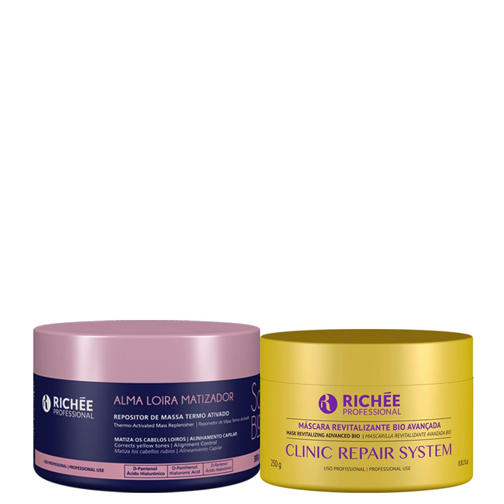 Richée Soul Blond Repositor De Massa + Máscara Clinic Repair