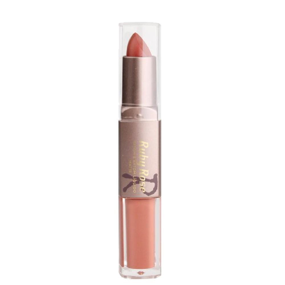 Ruby Rose Batom Duo Matte Cor 194 Nude Coral Rosado