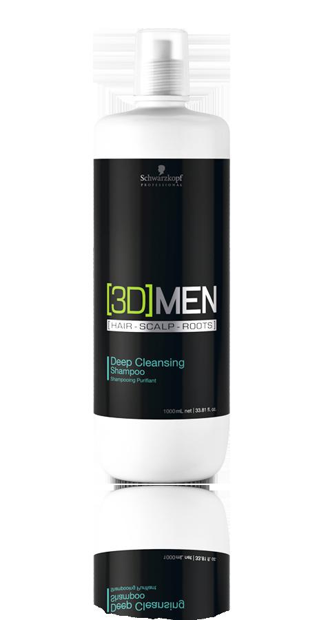 Schwarzkopf 3D Men Deep Cleansing Shampoo 1 Litro