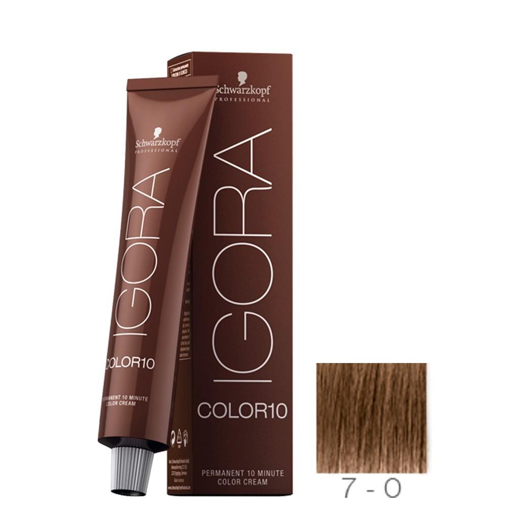 Schwarzkopf Igora Color 10 7-0 Louro Médio Natural 60g
