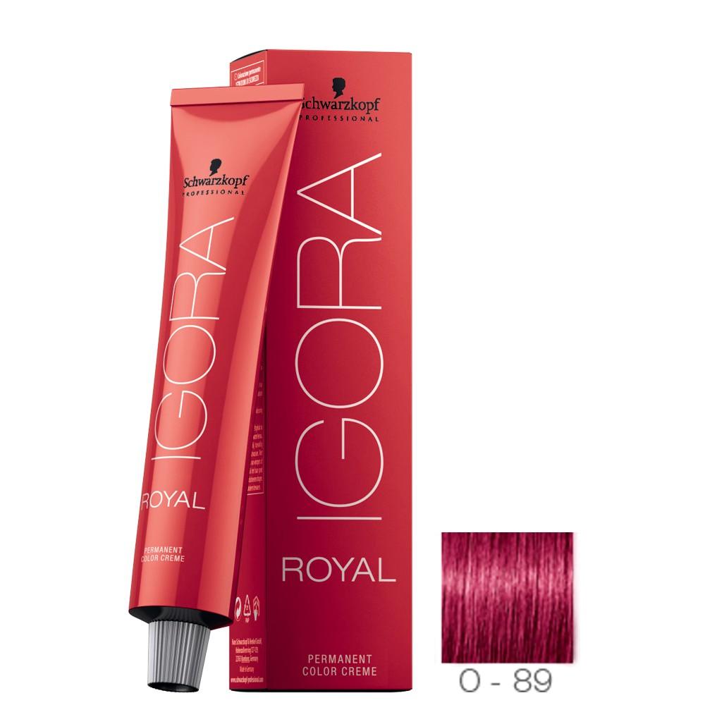 Schwarzkopf Igora Royal 0-89 Tom Mistura Vermelho Violeta 60g