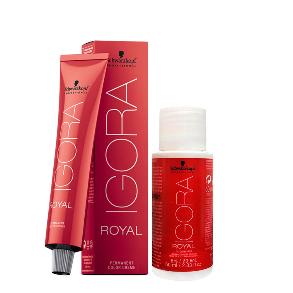 Schwarzkopf Igora Royal 8-0 Louro Claro Natural + Ox 20