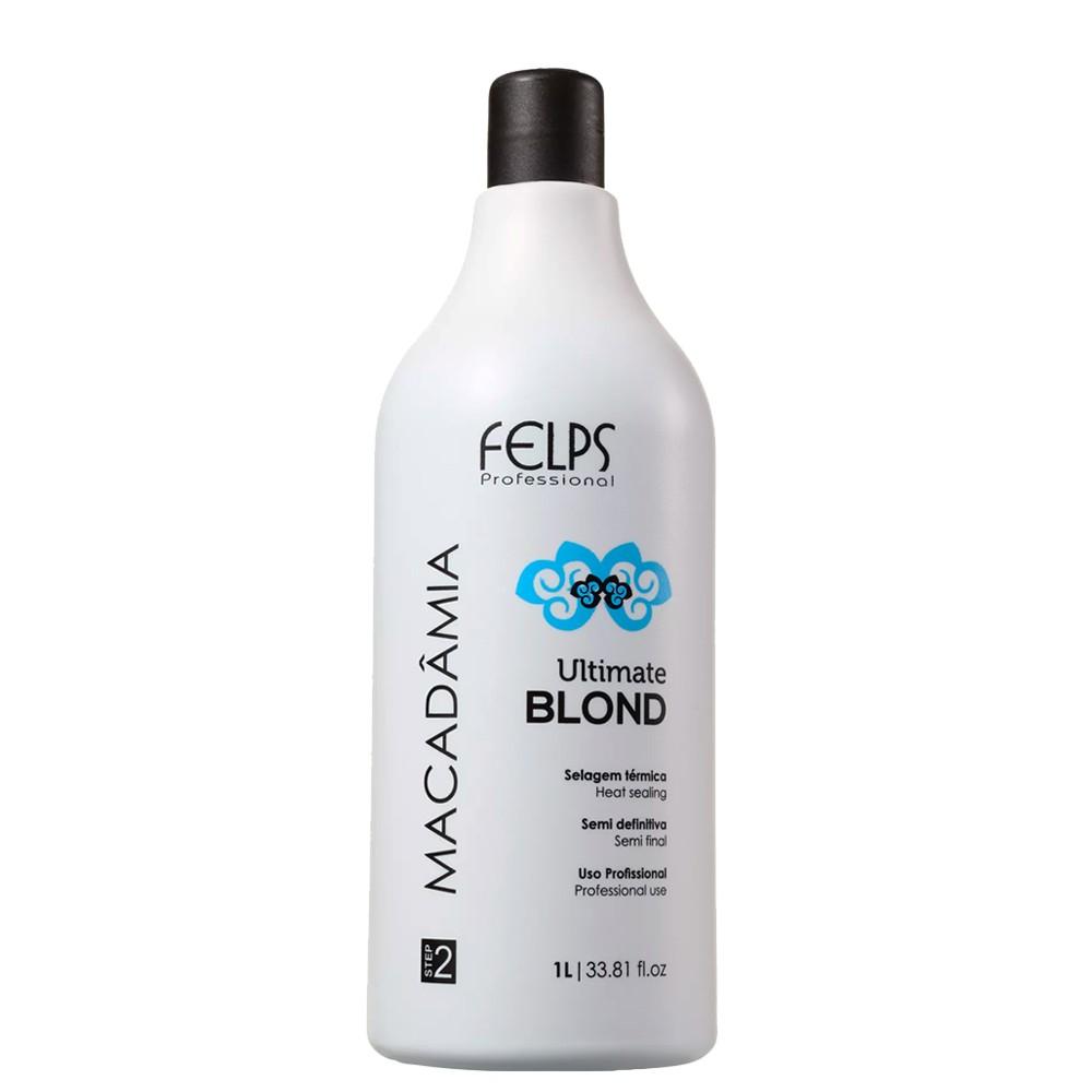 Selagem Felps Macadâmia Ultimate Blond Efeito Liso Natural