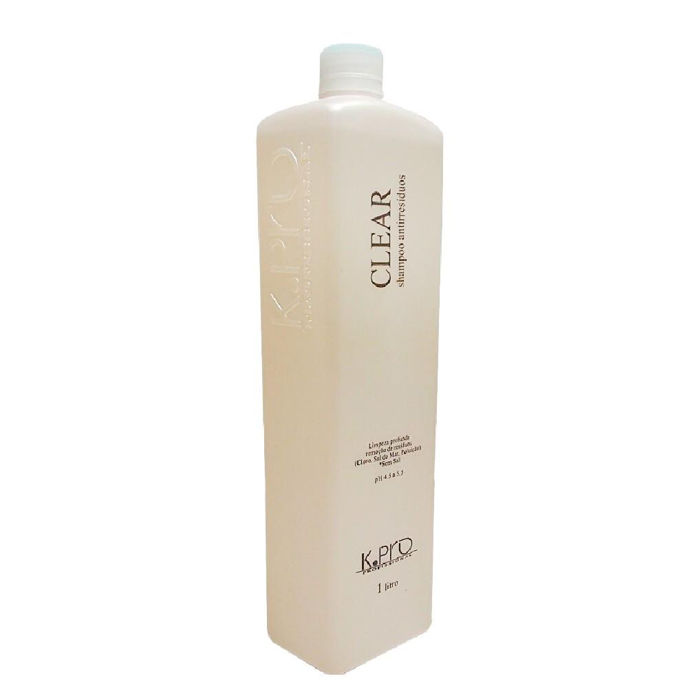 Shampoo Antirresíduo KPro Clear Profissional Limpeza P. 1L