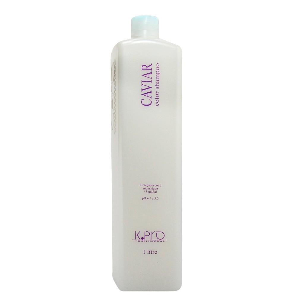 Shampoo Caviar Color KPro Profissional Reconstrói os Fios 1L