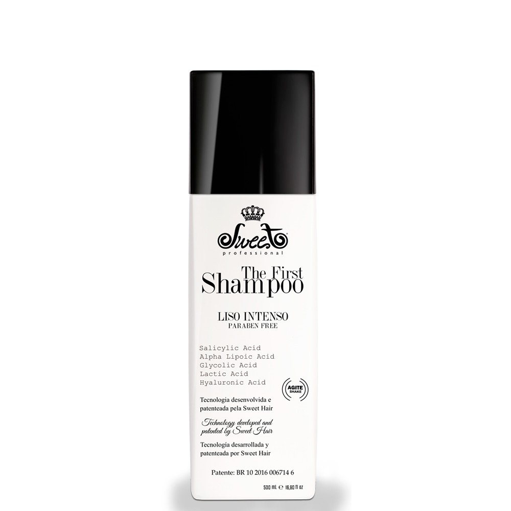 Shampoo The First Alisante Sem Formol Sweet Hair 500ml - Para Todos os Tipos de Cabelo