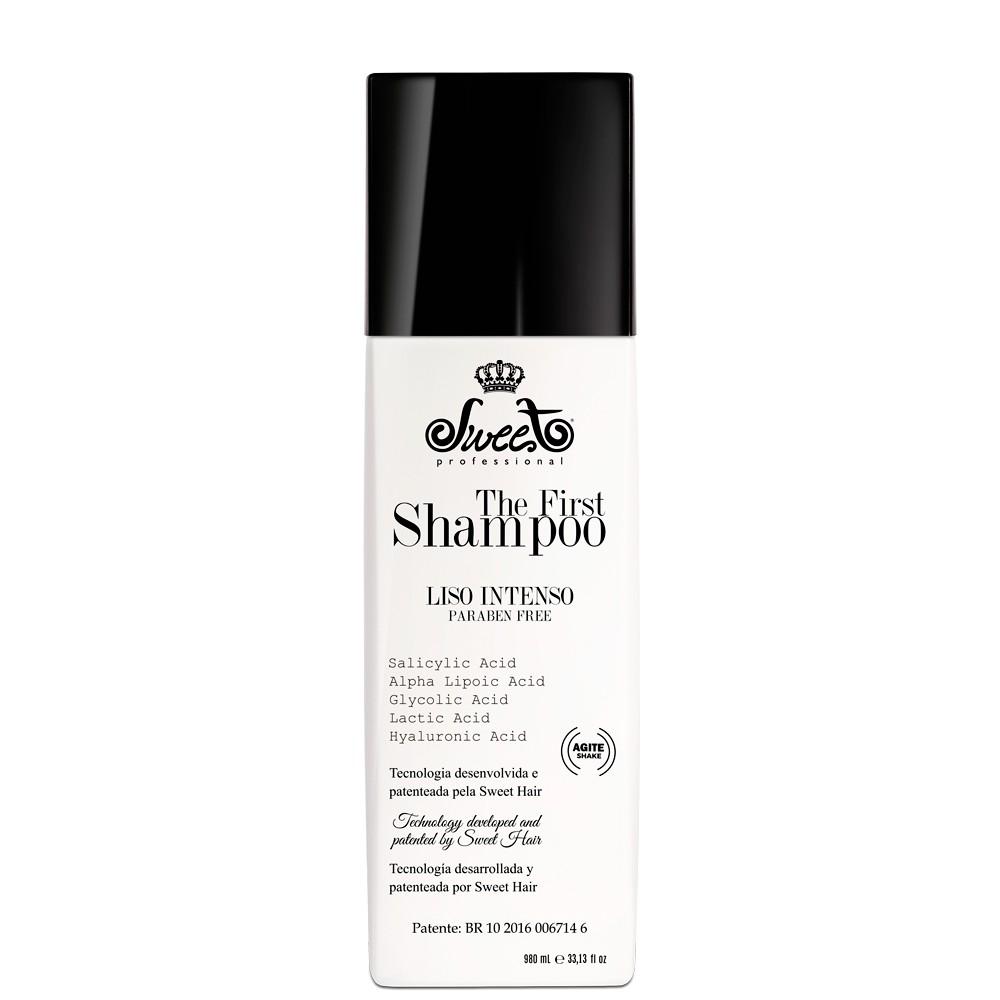 Shampoo The First Alisante sem formol Sweet Hair  980ml - para todos os tipos de cabelo