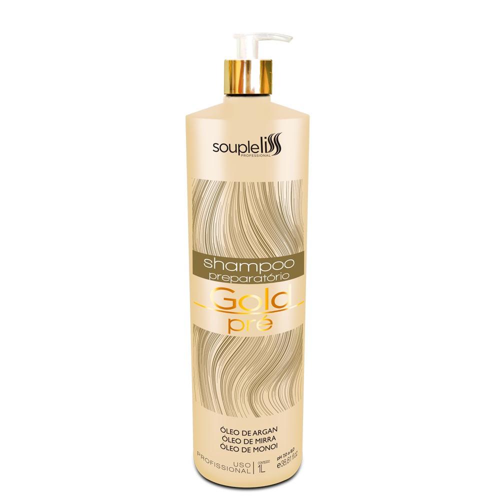Soupleliss Shampoo Preparatório Gold Pré 1 Litro