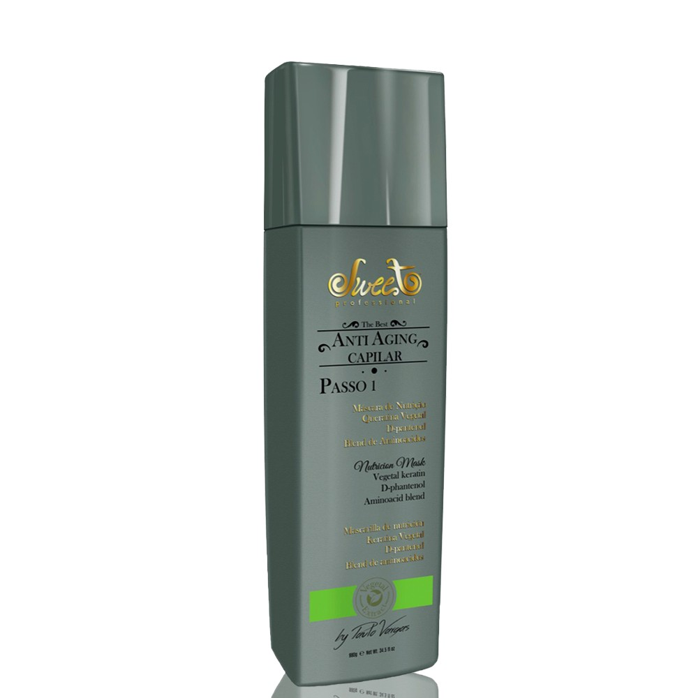 Sweet Hair Anti Aging Capilar e Facial Kit de Tratamento (2 Produtos)