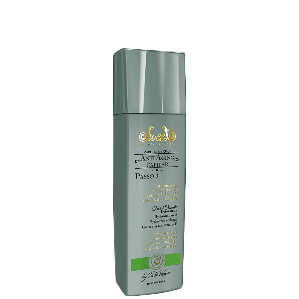 Sweet Hair Anti Aging Capilar e Facial Máscara Detox Passo 2 - 980g