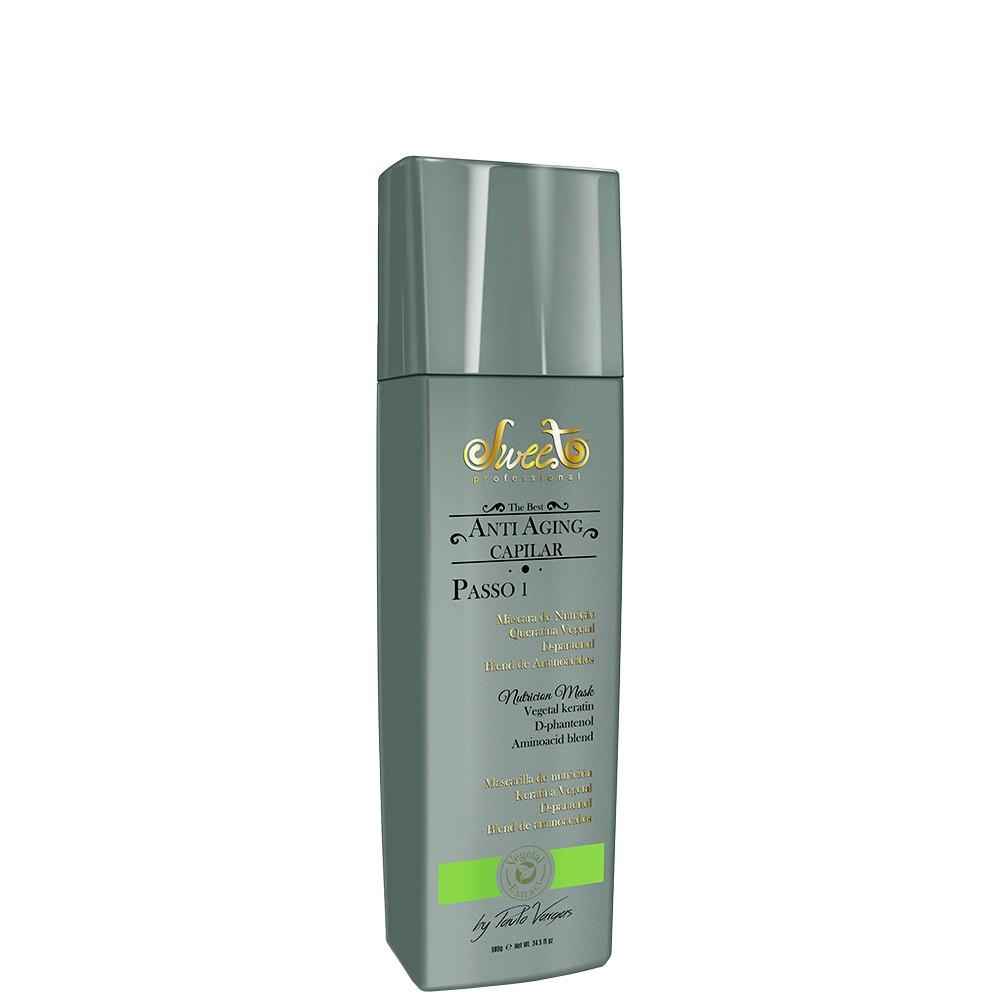 Sweet Hair Anti Aging Capilar Máscara de Nutrição Passo 1 - 980g