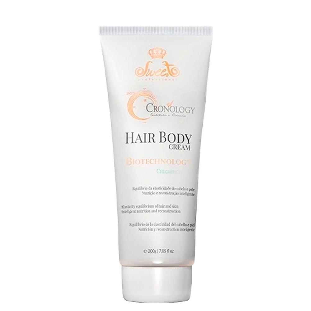 Sweet Hair Cronology Hair Body Cream Máscara de Tratamento Capilar e C
