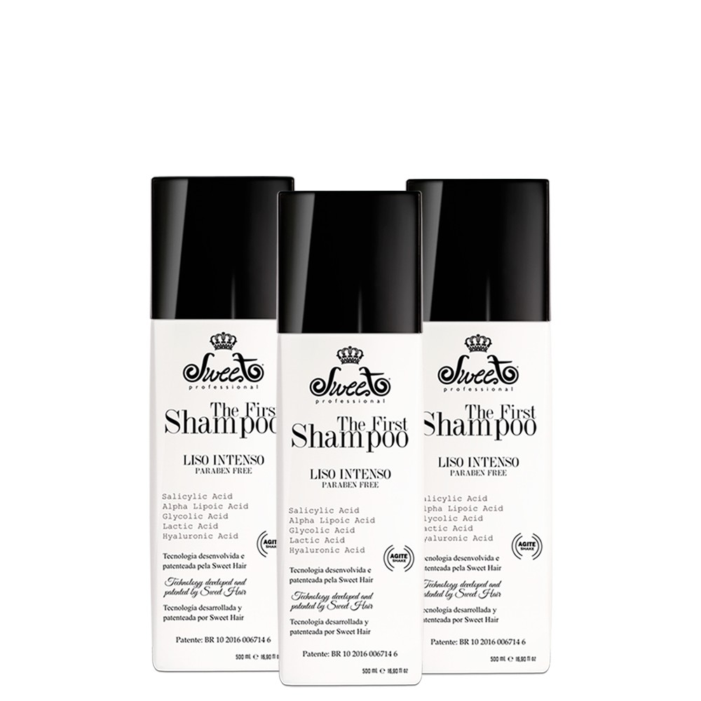 Sweet Hair Kit The First Intense Smooth Shampoo 3 units of 500ml