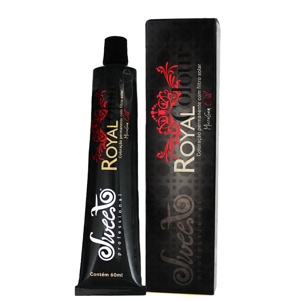 Sweet Hair Royal Colour 7.31 Louro Médio Dourado Cinza 60g