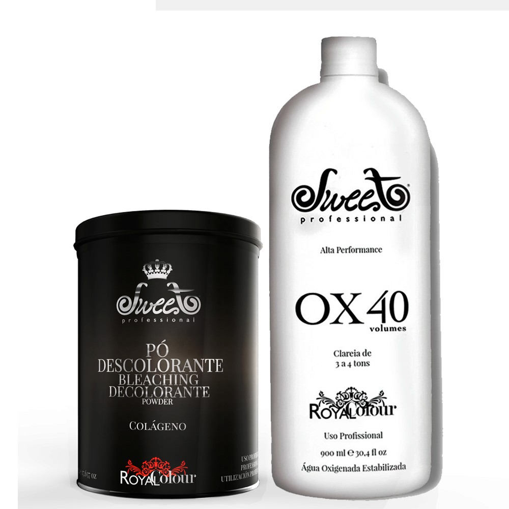 Sweet Hair Royal Colour Kit Pó Descolorante + Ox 40 Volumes