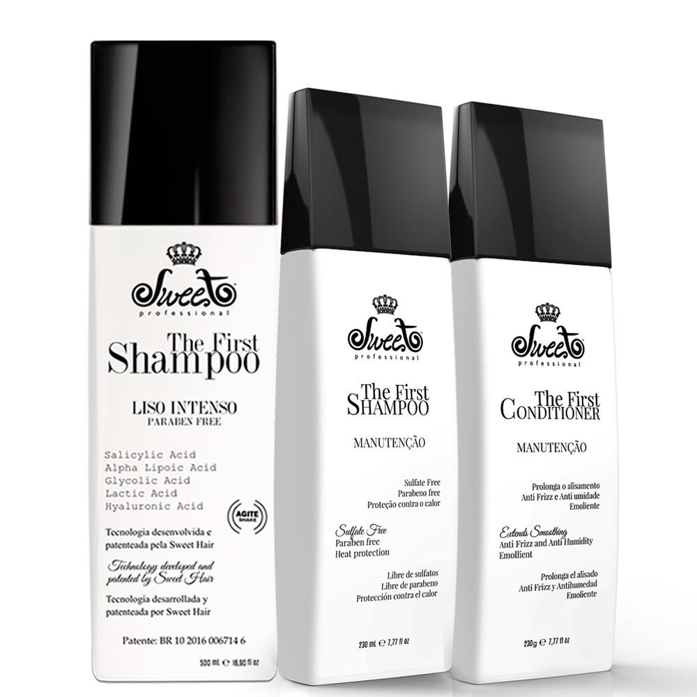 Sweet The First Shampoo Progressiva +Shampoo Condicionador Manutenção