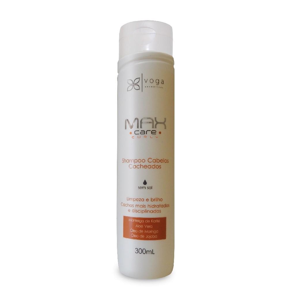 Voga Max Care Curly Shampoo Cabelos Cacheados 300ml