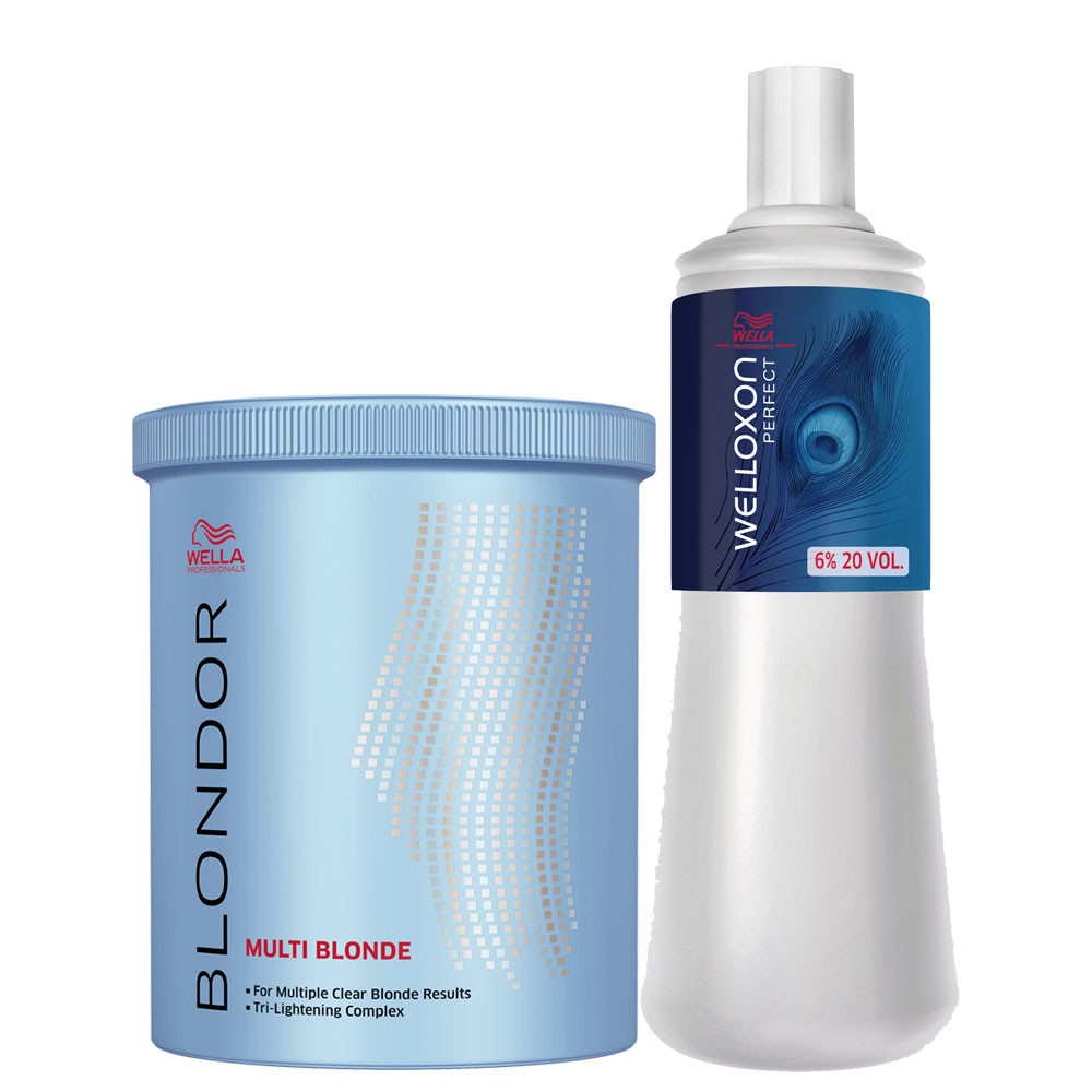 Wella Blondor M Blond Pó Descolorante Dust Free + Ox 20 Vol