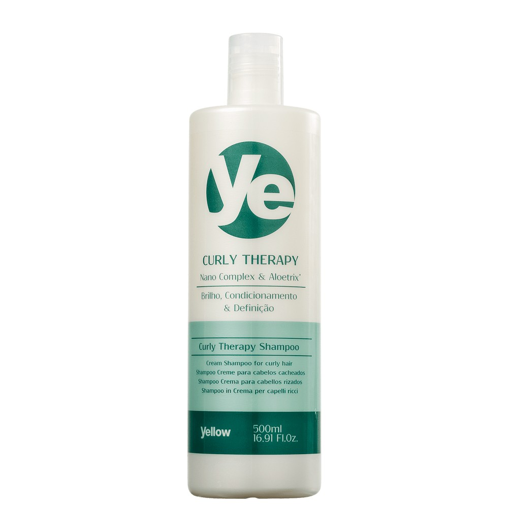 Yellow Shampoo Curly Therapy Cabelos Cacheados Nutre e Hidrata