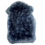 Pelego de Carneiro(Ovelha) com Lã Natural Aprox. 0,50x0,85 Cinza Escuro